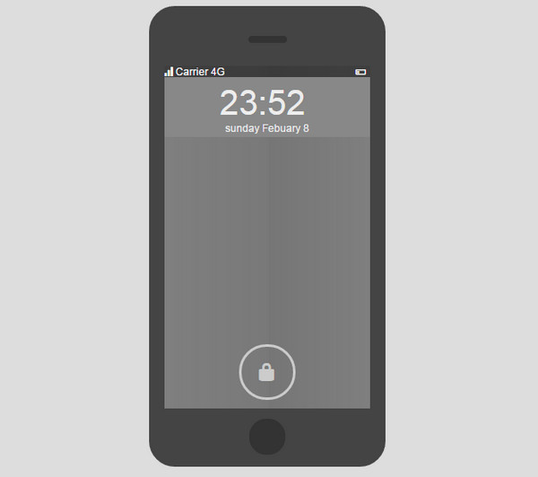 Flat iPhone Login UI by José Barcelon-Godfrey