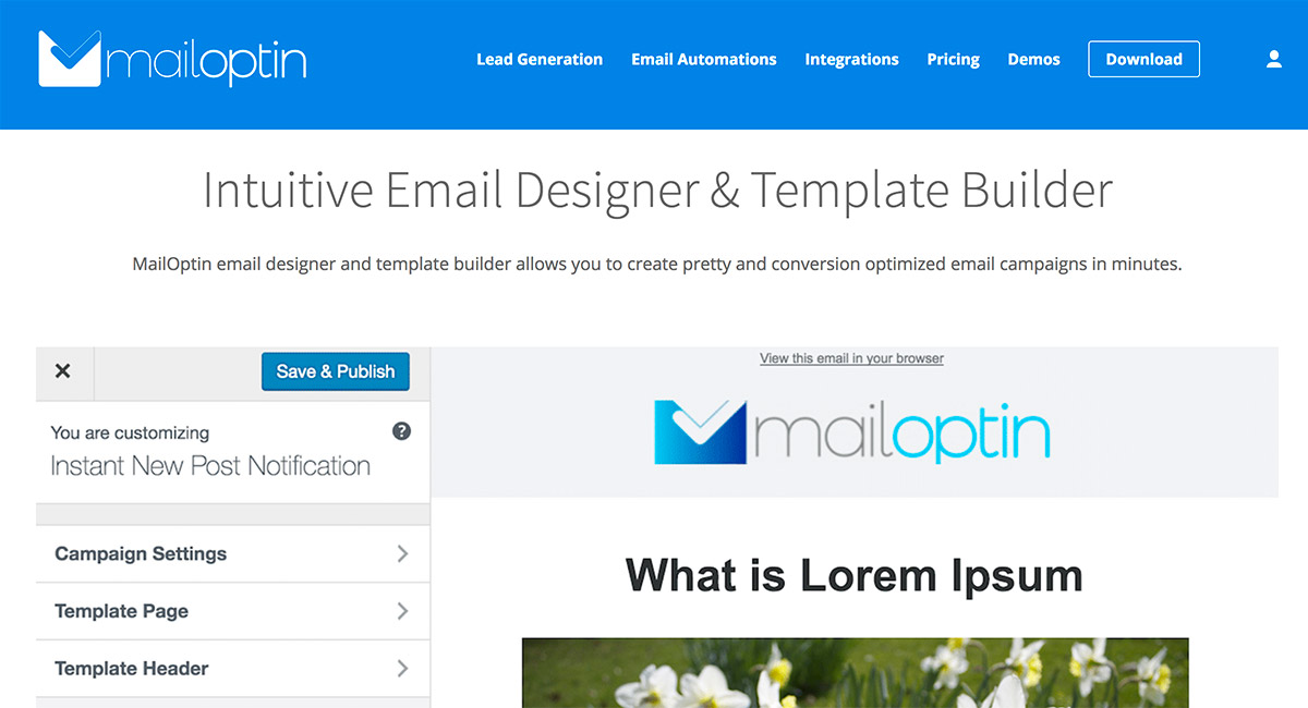 Mail Optin