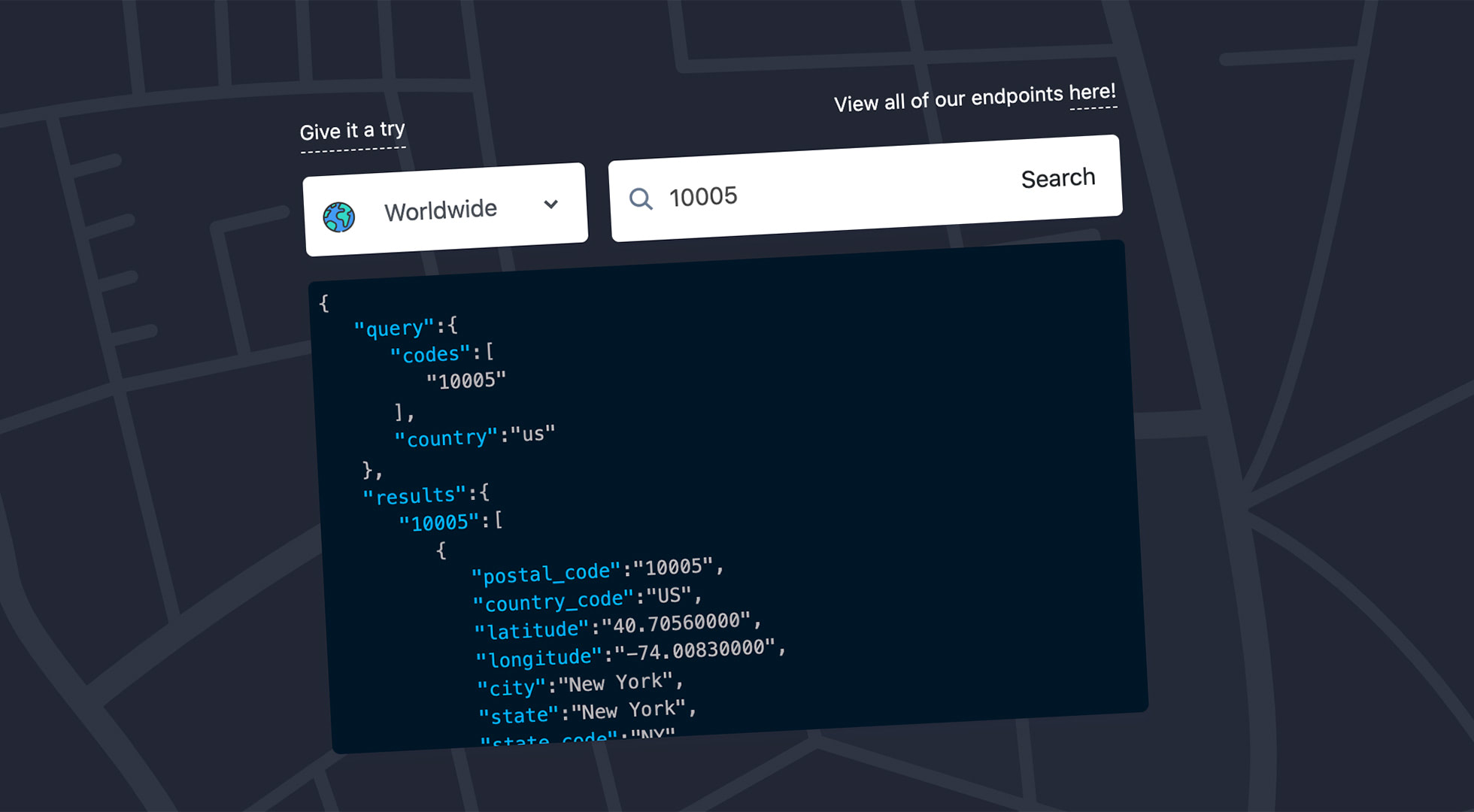Zip Code API - Free Worldwide Postal Code Data