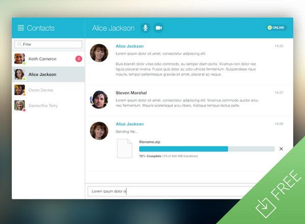 Chat Window App UI