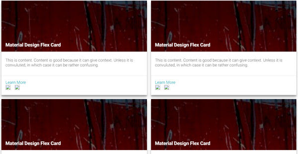 Material Flex Cards By AyeZee