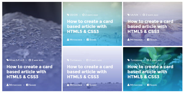 Card Article UI By Mithicher