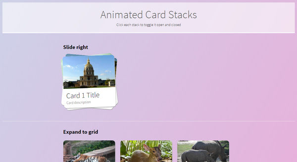 Animated Card Stacks By Chris Hutchinson