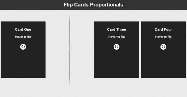 Flip Cards Proporcionales y Responsive con CSS3 by Josetxu